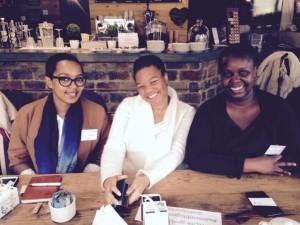 PR people: Nkanyezi, Lesego and Adelaide.