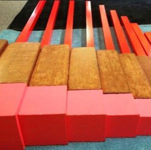 sensorial montessori preschool in sandton red rods pink tower broad stair