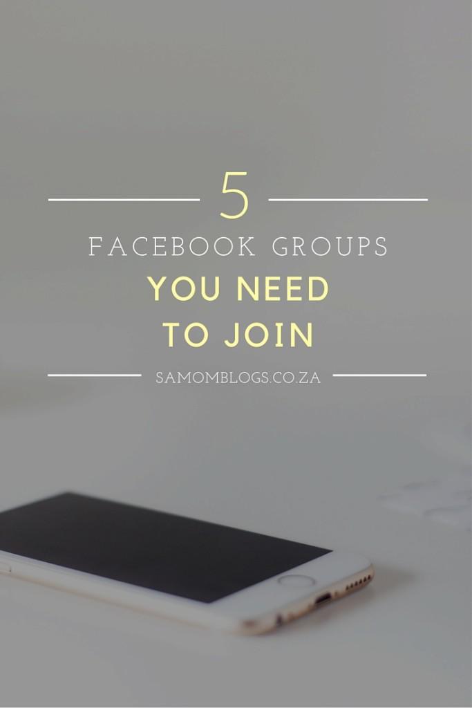 Facebook Groups SA Mom Blogs