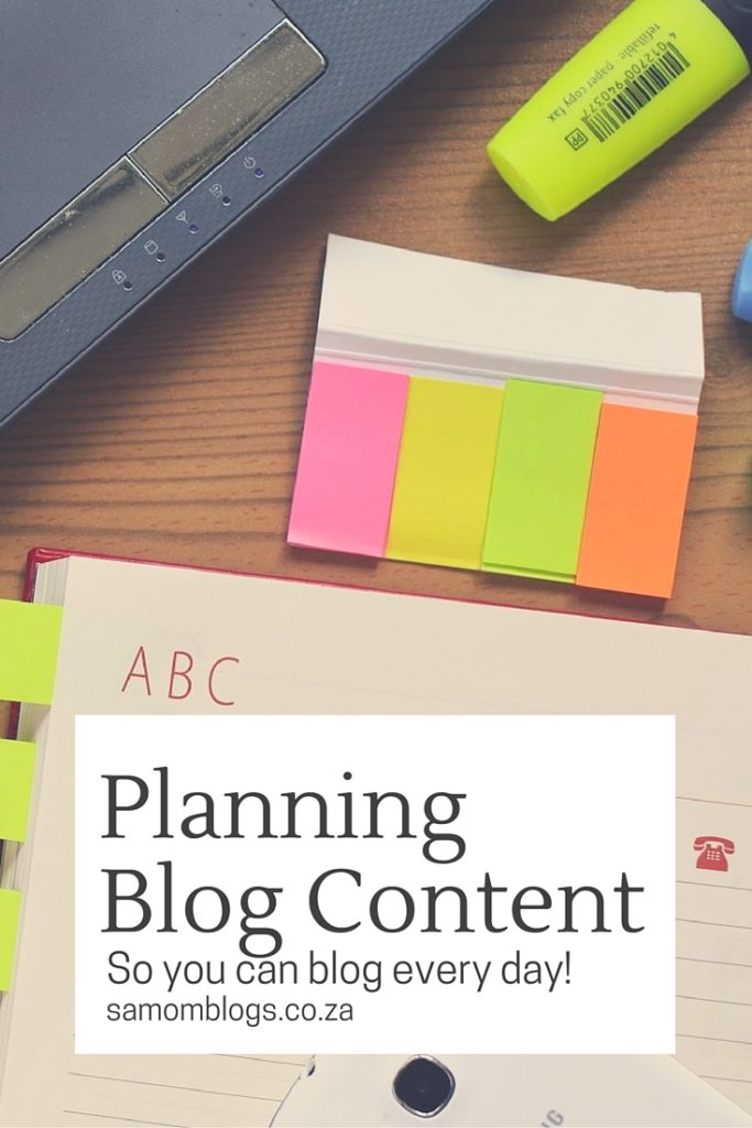 Planning Blog Content|SA Mom Blogs