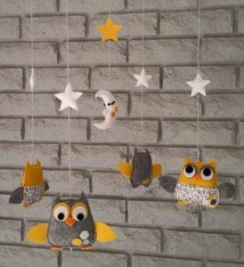 mobile with owls