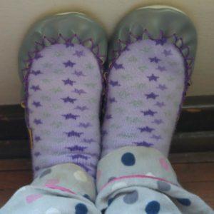 moccis on my feet