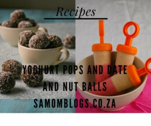 Yoghurt Pops and Date and Nut Balls