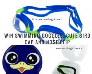 children's swim goggles, caps, nose clip