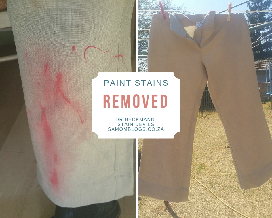 How I Removed Red Paint From My White Pants South